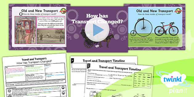 history travel and transport how has transport changed ks1 lesson pack 1. Black Bedroom Furniture Sets. Home Design Ideas