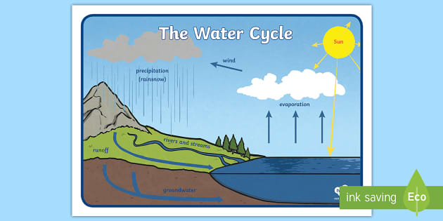 water cycle diagram education interactive discovery wiring Water Atom Diagram