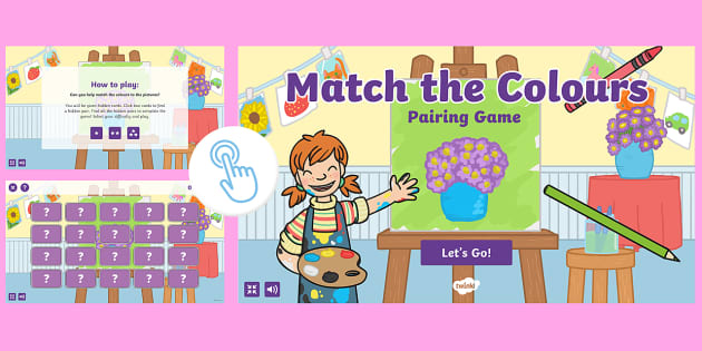 Match the Colours Pairing Game