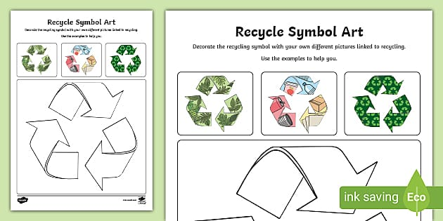 Recycle Logo Design Worksheet
