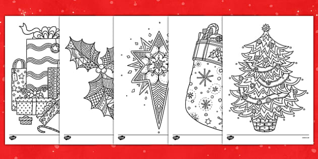 Christmas Themed Mindfulness Colouring