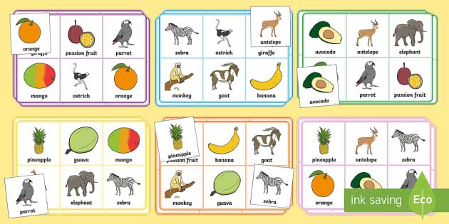 Fruit Bingo to Support Teaching on Handa's Surprise - game
