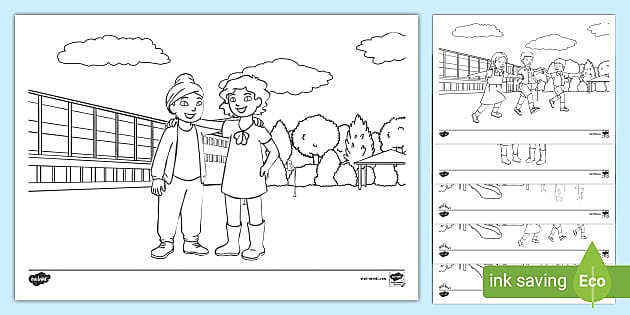 Friendship Colouring Pages (teacher Made)