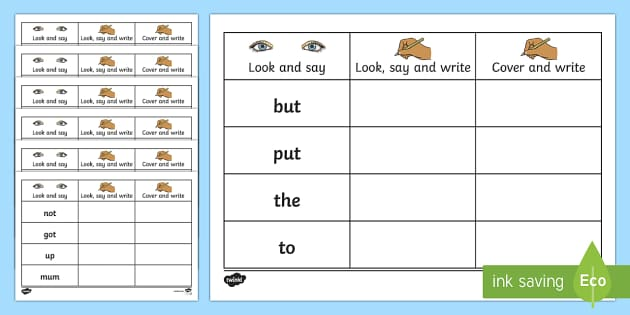Writing Resources for Vocabulary and High-Frequency Word Practice