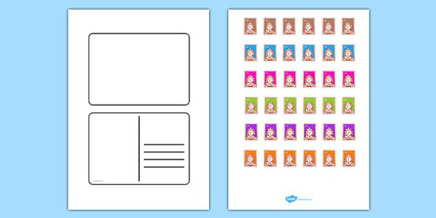 free blank postcard templates postcard writing template. Black Bedroom Furniture Sets. Home Design Ideas