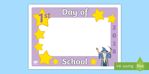 First Day of School 2018 Wizard Photo Booth Frame Cut-Outs