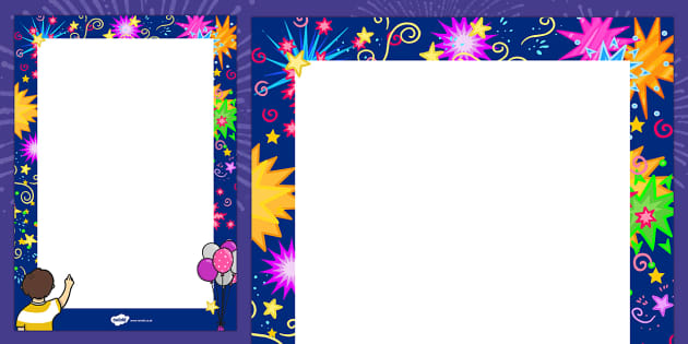 New Year Decorative Page Border 2015 New Year Border