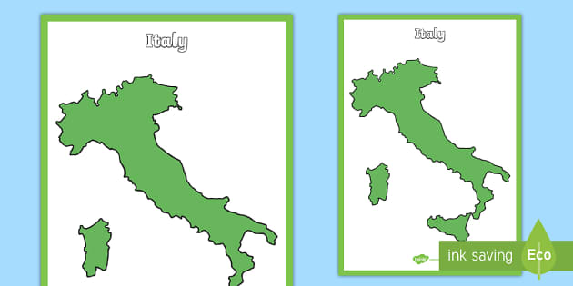 Large Map Of Italy.Large Blank Map Of Italy Poster