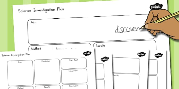 Science Investigation Writing Frame Planners - australia