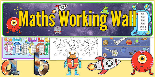 Classroom Ideas Secondary ~ Space themed maths working wall pack