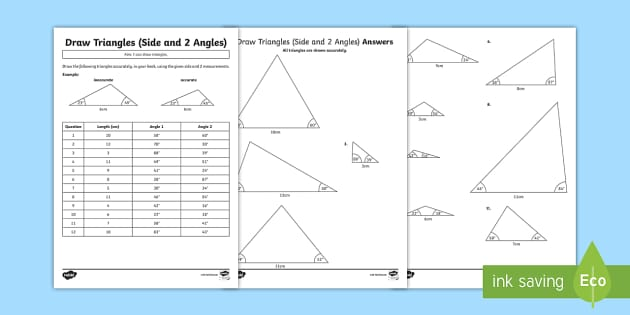 year 6 draw triangles worksheet activity sheets draw 2d shapes using. Black Bedroom Furniture Sets. Home Design Ideas