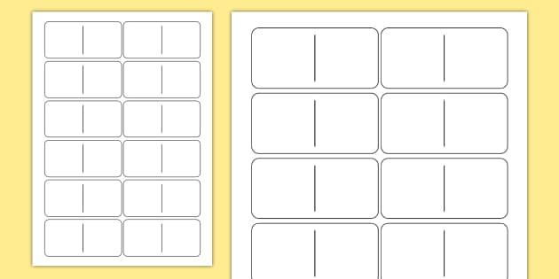 Blank Domino Template Teacher Made