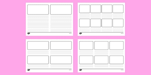 comic strip template twinkl  Blank Storyboard Templates (teacher made)