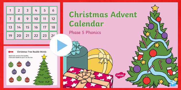 phase 5 christmas phonics advent calendar powerpoint. Black Bedroom Furniture Sets. Home Design Ideas