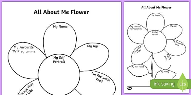All About Me Flower Writing Template