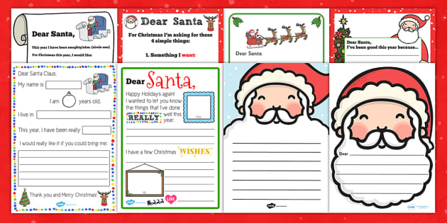 free printable santa letters uk letter to santa resource pack letter santa resource pack 13640