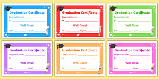 FREE! - Editable Graduation Certificates - Primary ...