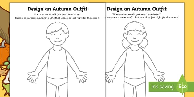 Autumn Clothes Outfit Drawing Worksheet Worksheet Pack Worksheet