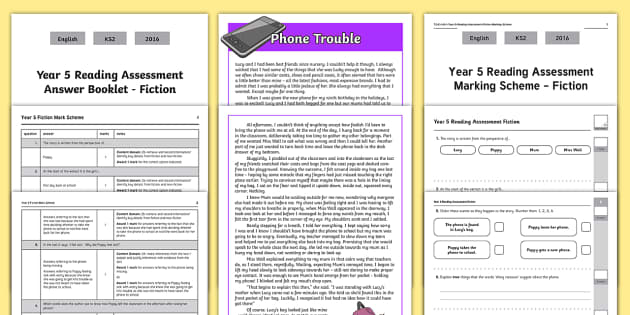 Year 5 Reading Comprehension Test Pack