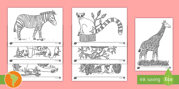 NEW * Hojas para colorear: Animales de la Selva - Mindfulness