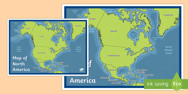 Map of North America map north america continent countries