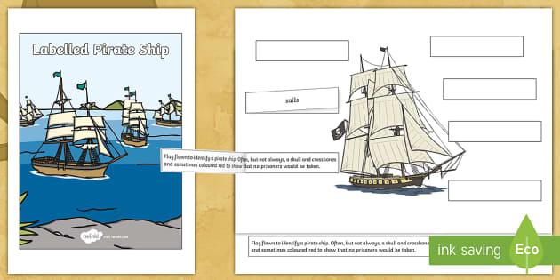 Label A Pirate Ship Worksheet    Worksheet  Teacher Made