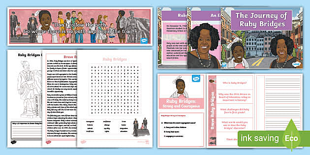 Ruby Bridges Color And Respond Activity Teacher Made