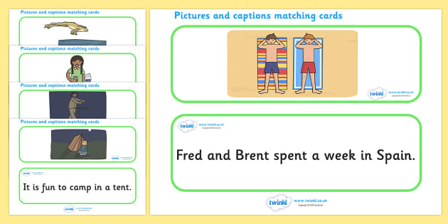 Phase 4 Sentences And Pictures Matching Cards - matching cards