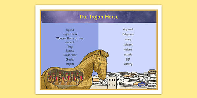 The Legend of The Trojan Horse Word Mat - the legend of the