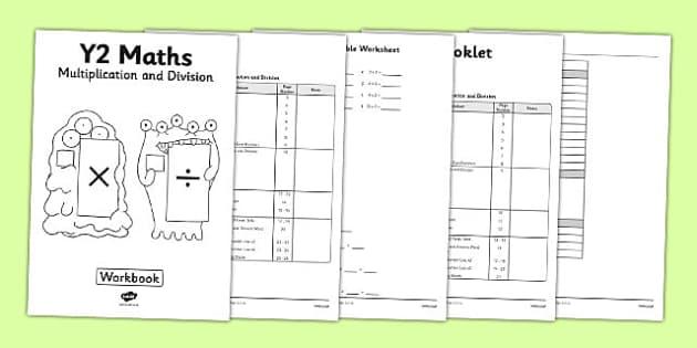 free year 2 multiplication and division workbook. Black Bedroom Furniture Sets. Home Design Ideas