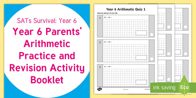 SATs Survival: Year 6 Parents' Arithmetic Practice and Revision