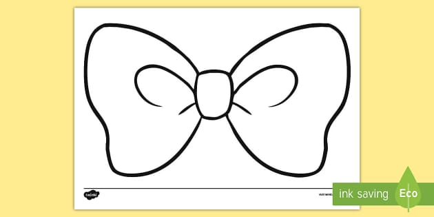 Hair Bow Colouring Page bow