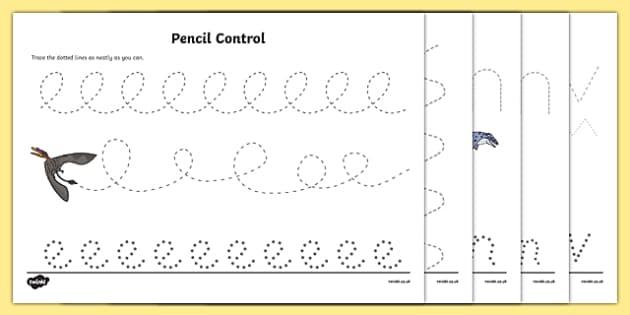 realistic dinosaurs pencil control sheets dinosaurs sheets fine motor. Black Bedroom Furniture Sets. Home Design Ideas