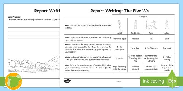 report writing for children Teach your class how to write a report the painless way, in three lessons for your plan book use creative informational reports to add a splash to non-fiction presentations.