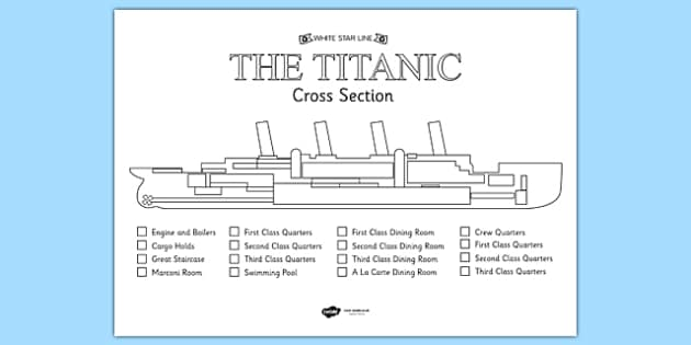 the titanic cross section colour labelling worksheet