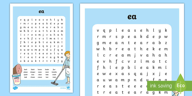 Ea Digraph Differentiated Word Search Teacher Made