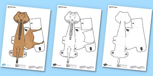 3d Horse Template Paper Model Activity Teacher Made