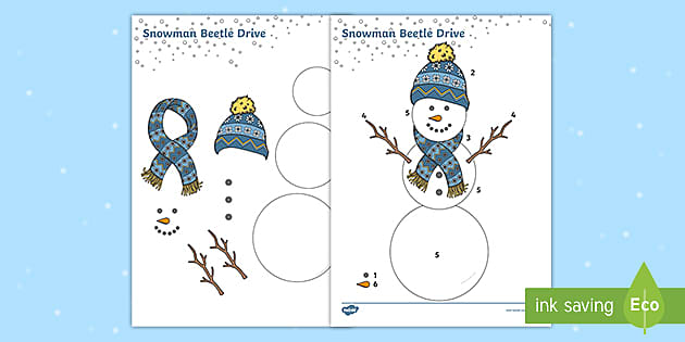 Beetle Drive Snowman (teacher made)