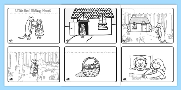 little red riding hood story sequencing  4 per a4