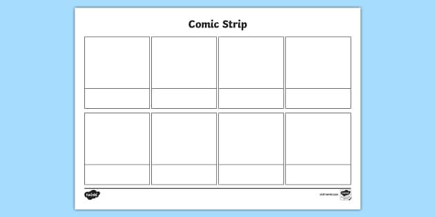 Free New Blank Comic Strip Template Comic Comic Strip