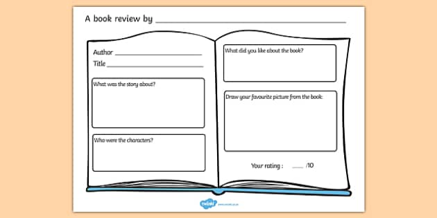 Book Review Worksheet Books Reading Review Book Review