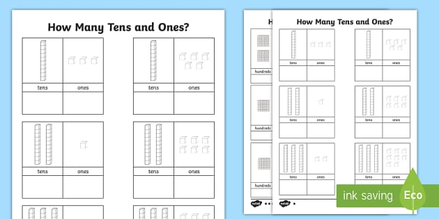 tens and ones worksheet count counting aid numeracy maths place value. Black Bedroom Furniture Sets. Home Design Ideas