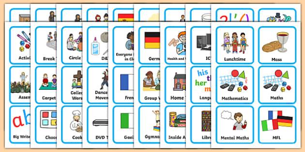 FREE! - Editable KS1 Visual Timetable