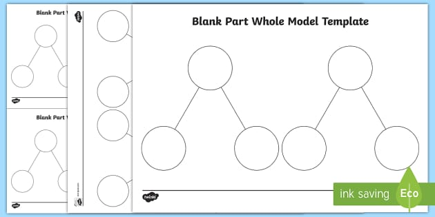 Part Whole Blank Model Template Shanghai Maths Singapore