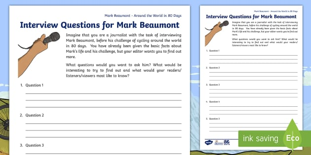 ks2 around the world in 80 days mark beaumont interview