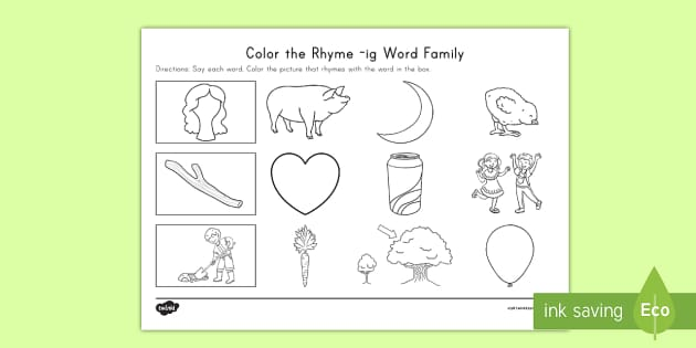 us l 424 color the rhyme ig word family activity sheet english ver 1