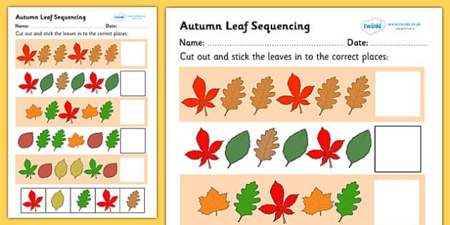 autumn leaf sequencing worksheet worksheet sequencing. Black Bedroom Furniture Sets. Home Design Ideas