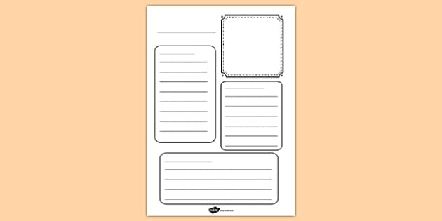 Blank Fact Sheet Template  CityEsporaCo