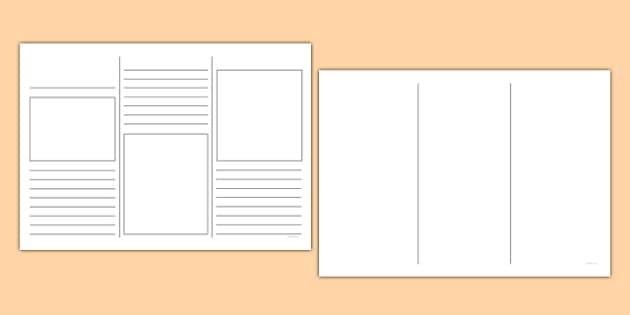 blank leaflet template ks1 resource