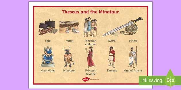 thesis and the minotaur summary Theseus and the minotaur - greek mithology - theseus met ariadne, daughter of king minos, who fell in love with him and decided to help theseus she gave him a.